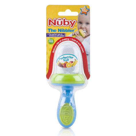 Nuby Baby Easy Grip And Squeez Feeding Garden Fresh Toddler Nibbler & Cover 10m+ Thumbnail 1